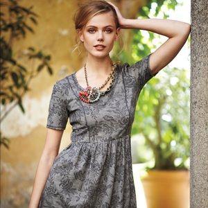 Saturday Sunday Sz XS Grey floral dress